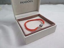 New Pandora Orange Small Multi Strand Cord Bracelet 590715COEM M1 Halloween