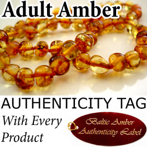 HONEY Authentic Baltic Amber ADULT NECKLACE - AGbA® Certified - Natural Health