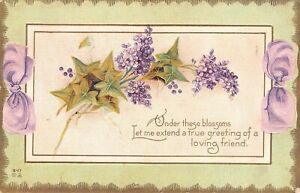 Antique Postcard  Early 1900's Embossed Flowers