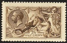 SG 408 2/6d Sepia Brown De La Rue Seahorse N64(13) in Post Office fresh Un Mint