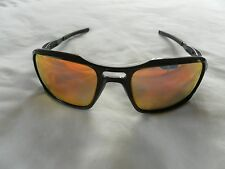 NEW AUTH OAKLEY TRIGGERMAN BLACK FRAME FIRE/RUBY LENS MENS SUNGLASSES 9266 03