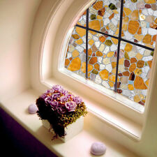 3D Sunscreen Window Flower Stained Glass Film Sticker Home Bath Privacy Decor
