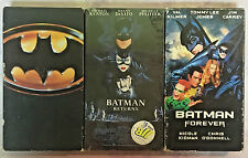 Batman VHS Lot of 3 Batman Returns, Batman Forever Movies