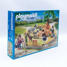 Playmobil 5968 City Life Zoo Wildtiergehege mit Figuren und Tieren 54 Teile NEU