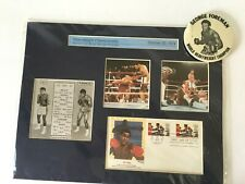 MUHAMMAD ALI  vs. GEORGE FOREMAN 1974 Boxing Photo & Stamp Souvenir Collection
