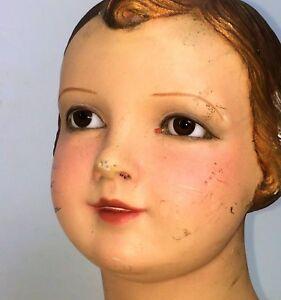 GIRL MANNEQUIN ART DÉCO. STUCCO. ORIGINAL POLYCHROME. ART DECO.SPAIN. CIRCA 1920