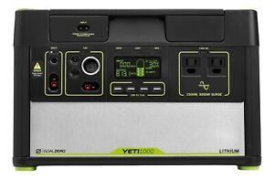 Goal Zero Yeti 1000 Lithium Portable Power Station, 1500W AC Inverter, 12V, USB