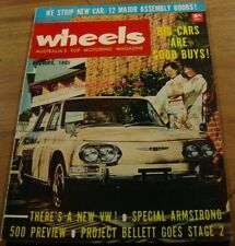 1965.WHEELS.Ford CORTINA GT 500.Armstrong 500 Preview.Toyota Corona.Contessa