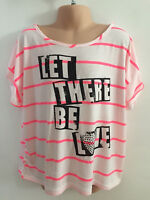 Girls ex River Island Kids Striped Cropped Top in Pink