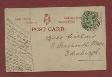 Miss Sinclair,  2 Learmonth Place, Stockbridge, Edinburgh 1905 - Susie q507