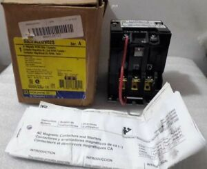 Square D 8502SCO2S AC Magnetic 3 Phase 3 Pole Nema Size 1 Ser-A Contactor New