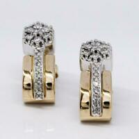 1 Paar Ohrringe Ohrstecker mit 30 Brillanten 0,44 ct. diamonds in 14 Kt. Gold