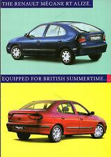 Renault Megane RT Alize 1.6 Limited Edition 1998 UK Market Sales Brochure