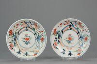 Antique 17/18C Japanese Edo Porcelain Imari Arita Dish flowers Birds[:zh...