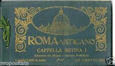 ax 08 - Anni 30 ROMA VATICANO Cappella Sistina I^ - Serie 20 cartoline Alinari
