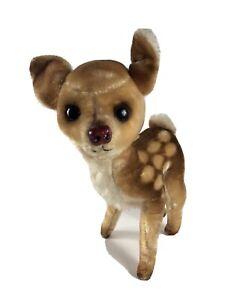 "Vintage Stuffed Kamar Deer Fawn Bambi 1960s Made in Japan 9"" Stiff Standing B15"