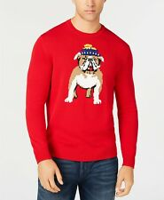 $340 Club Room Men'S Red Knit Crewneck Sweater Sweatshirt Pullover Size Large