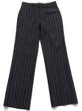 Ralph Lauren Black Label Dress Pants Size 6 Thin Wool Pinstripe Navy Blue