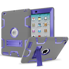 For Apple iPad 2 3 4 Hybrid Rugged Rubber Shockproof Stand Case cover