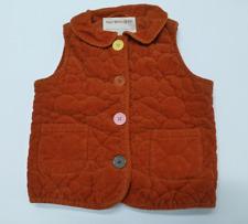 Gymboree Vest Girls Size S (5-6) Orange Corduroy Vest Great Condition