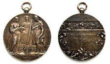 Medaglia Collegio San Giuseppe Torino 1909 Nominativa Metallo Argentato cm 3,5