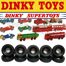 DINKY TOYS TYRES x 10 - 20mm Diameter, Black, BLOCK Tread