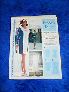 Sewing Step by Step PRINCESS DRESS PATTERN  Misses Sizes 4-22 FREE SHIPPING
