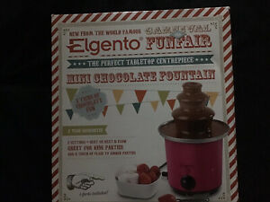 Elgento E26005 3-tier Compact Tower Mini Chocolate Fountain - Red