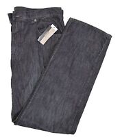 Alfani Big & Tall Mens Black Wash Straight Leg Cotton Jeans