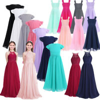 Girls Princess Long Dress Pageant Formal Flower Party Wedding Birthday Dresses