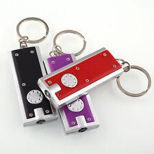 2Pcs Mini LED Light Torch Flashlight Keyring Key Chain Christmas Stocking Filler