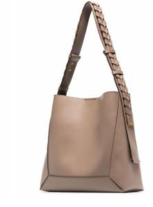 NWT $1090 Stella McCartney Medium Soft Eco Alter Faux Leather Hobo Bag In Moss