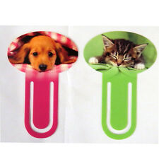 Large Cute Bookmarks - Puppy and Kitten Design - 2 Packs