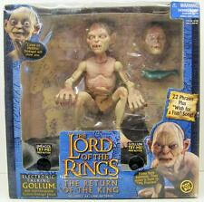 NEW~LORD OF THE RINGS~ELECTRONIC TALKING SMEAGOL/GOLLUM ACTION FIGURE~INTERCHANG