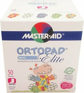 Ortopad Elite Boys Eye Patches - with Glitter Accents, Junior Size (50 Per Box)