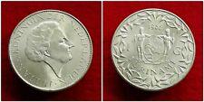 Suriname - Zilveren 1 Gulden 1966 UNC ~ Juliana ~ Sch. 1292. R