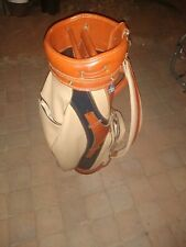 Ben Hogan Brown Vinyl Leather Staff Golf Bag Fort Worth Texas made in usa Look