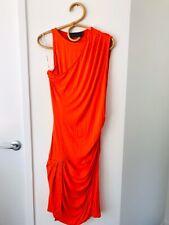 BLESSED ARE THE MEEK Size 12 Orange Sleeveless Midi Length Bodycon Dress