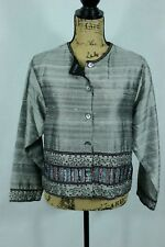 Parsley and Sage 100% Silk Beaded Jacket Size Small Evening Holiday Outfit Coat