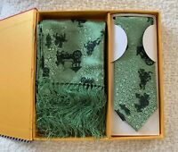 Celadon Brocade of China Tie/Scarf Set in gift box Brand New