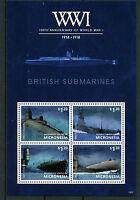 Micronesia 2014 MNH WWI WW1 100th Anniv British Submarines 4v M/S Ships Stamps