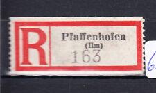 63193) Dt Reich, Reco-Zettel Pfaffenhofen (Ilm)