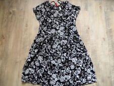 H M Divided schönes leichtes Kleid Blumenmuster schwarz grau Gr. 34 NEUw.  kCE817 6589f15477