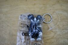Adidas adicolor Toy2r Qee BLACK figure key chain bearbrick! FREE SHIPPING SEALED