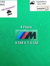 4x Stickers BMW M Motorsport Logo Performance AUTOCOLLANTS  Noir étrier de frein