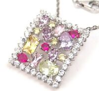 Sterling Silver Necklace Amethyst Peridot Citrine Ruby color Stones New
