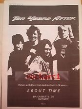 TEN YEARS AFTER About Time 1989  UK Poster size Press ADVERT 16x12""
