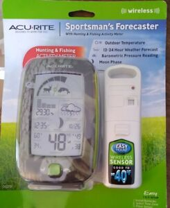ACURITE SPORTSMAN'S FORECASTER Wireless w/Hunting Fishing Activity Meter NEW
