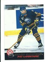 RARE vintage PAT LaFONTAINE buffalo sabres GLOSSY INSERT card # 8 OF 30