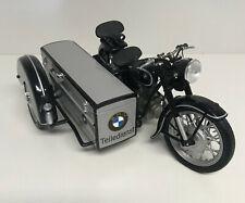Schuco Motorrad BMW R 25/3 mit BEIWAGEN TEILEDIENST 1:10
